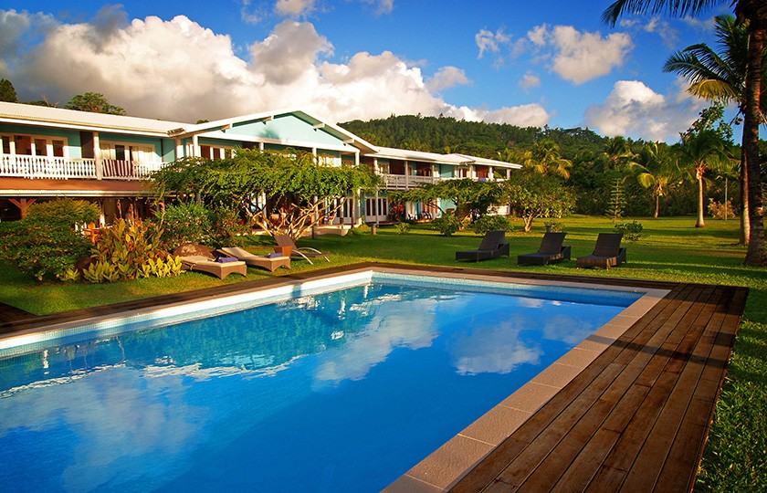 Piscine du Raiatea Lodge